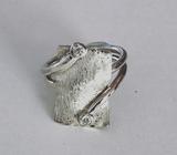handgemaakte zilveren ring rechthoek met 2 steentjes_